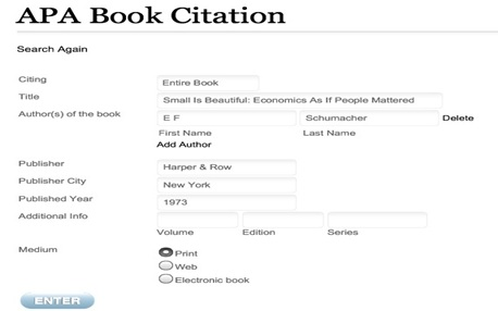 apa format cite generator Apa citation format for a test review from the electronic version of the mmy: the citation for your 'works cited' page for  how to cite a web page in apa style.